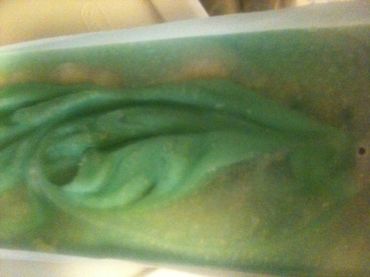 Ginger Lime. This one is INCREDIBLE. I hope the lime doesn't fade as the soap cures, because it's absolutely gorgeous.